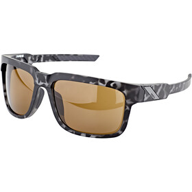 100% Type S Okulary, czarny/brązowy